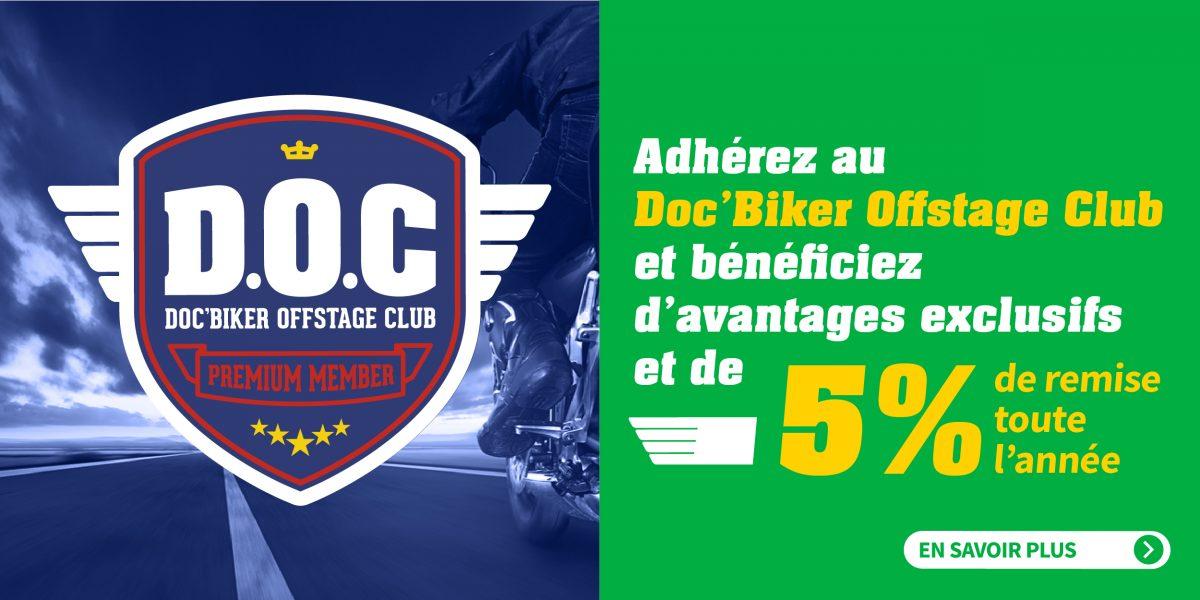 Rejoignez le club Doc'Biker électrique et profitez de 5% de remise