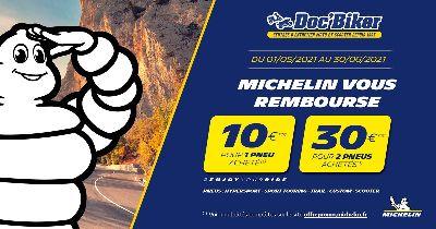 Doc'Biker et Michelin vous font profiter de 10 € à 30 € remboursés !