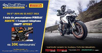 Doc'Biker & Pirelli vous offrent un support téléphone CHAFT ou 30 € remboursés !